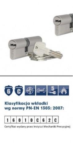 Wkładki na jeden klucz GERDA PROSYSTEM