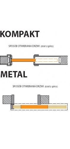 System przesuwny Porta Kompakt, Metal