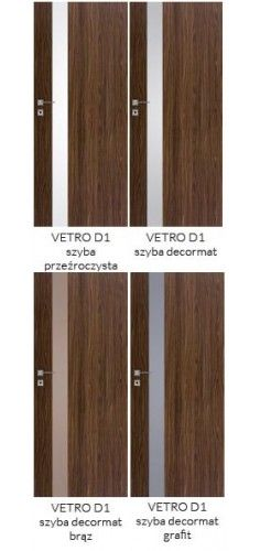 Drzwi DRE Vetro D