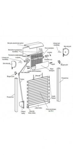 Roleta zewnętrzna - Omega-Lux z moskitierą