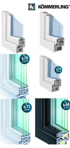 Okna z profili KoMMERLING