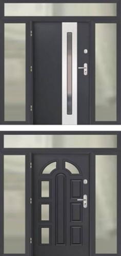 Doświetla i naświetla aluminiowe do drzwi GERDA