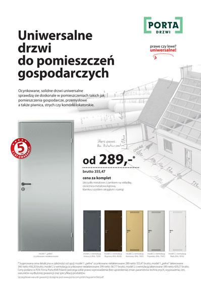 Zobacz katalog drzwi PORTA uniwersalne do pomieszczeń gospodarczych
